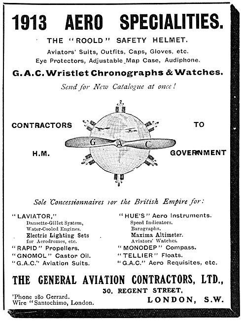 General Aviation Contractors - 1913 Aero Specialities