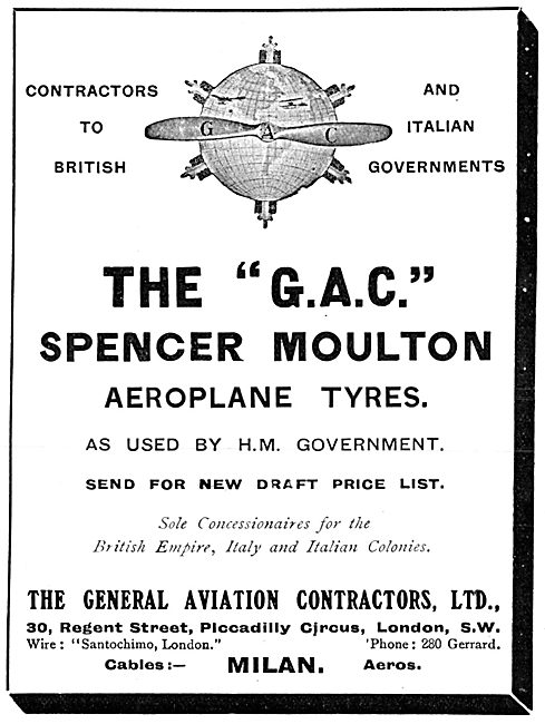 General Aviation Contractors - Spencer Moulton Tyres