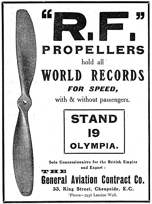 The General Aviation Contract Co. R.F.Propellers