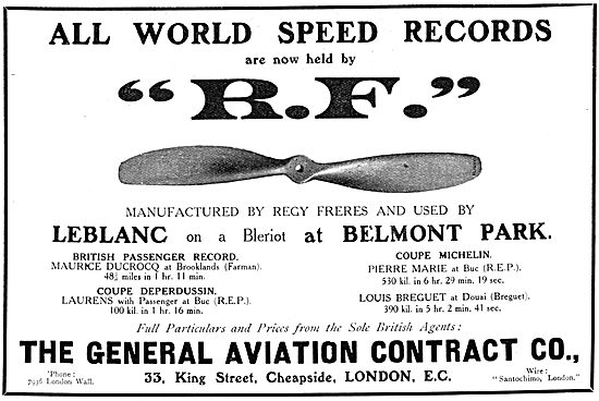 The General Aviation Contract Co. RF Propellers