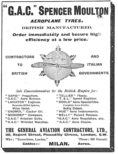 General Aviation Contractors For Spencer Moulton Aeroplane Tyres