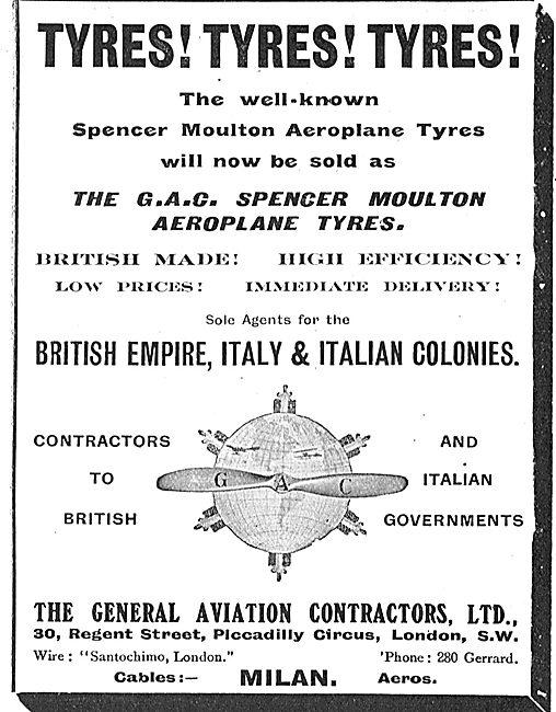 General Aviation Contractors - For  Spencer Moulton Aero Tyres