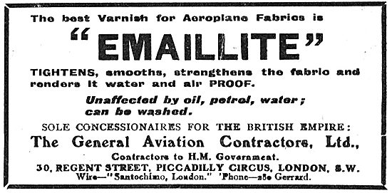 General Aviation Contractors - Concessionaires For Emaillite
