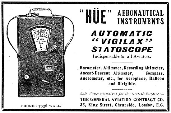 The General Aviation Contract Co HUE Automatic VIGILAX Statoscope