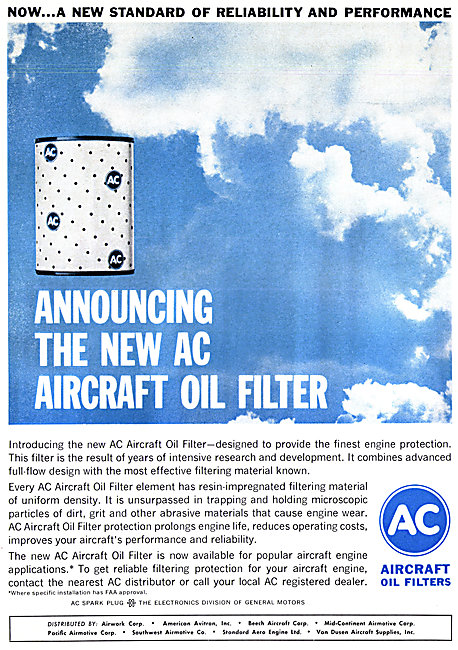 AC Aircraft Spark Plugs & Oil Filters