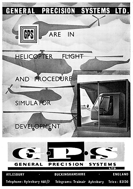 General Precision Systems. GPS Flight Simulators 1960