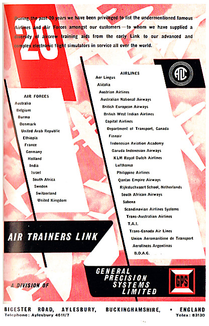General Precision Systems. GPS Flight Simulators. Air Trainers