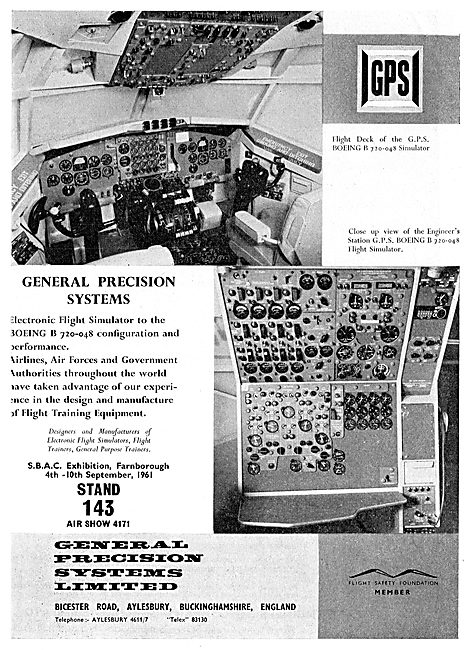 General Precision Systems GPS Boeing 720-048 Flight Simulator