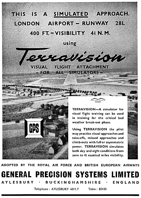 General Precision Systems. G.P.S. Flight Simulators. Terravision