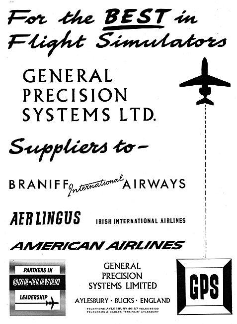General Precision Systems. GPS Flight Simulators 1965