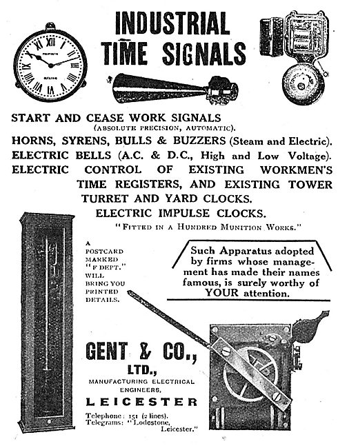 Gent & Co - Industrial Time Signals For Factories