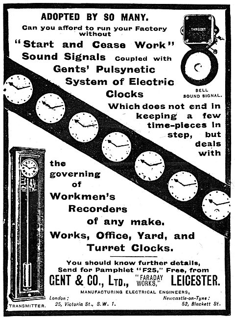 Gent Factory Workers Time Registers. Pulsynetic Electric Clocks