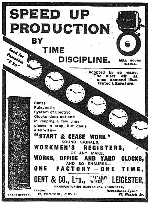 Gent & Co Workmens Factory Time Registers