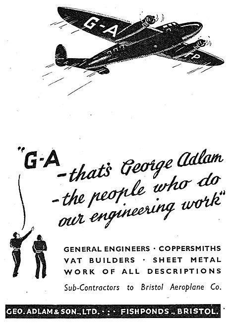 Geo Adlam & Son. Fishponds, Bristol. Aircraft Component Mfg