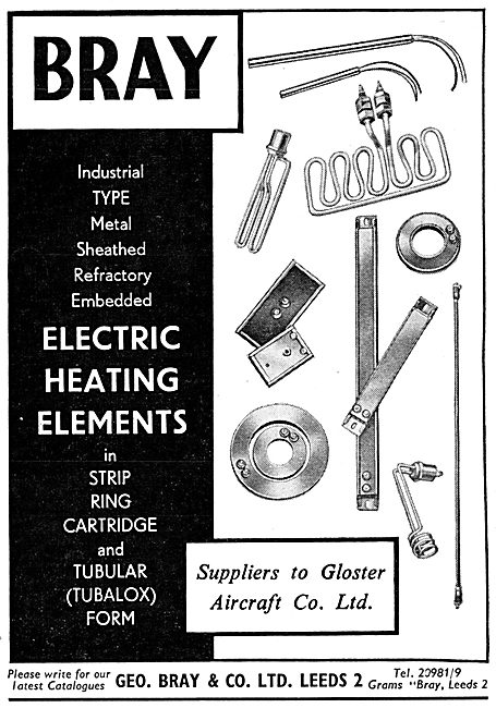 Geo Bray & Co. Leeds. Electric Heating Elements