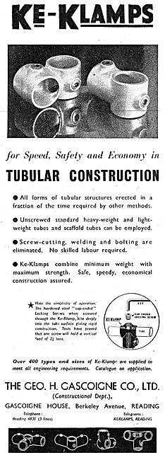 Geo Gascoigne KE-KLAMPS For Tubular Construction 1943