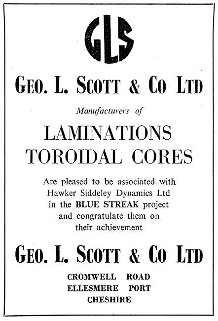 Geo L.Scott. Ellesmere Port. Laminations & Toroidal Cores