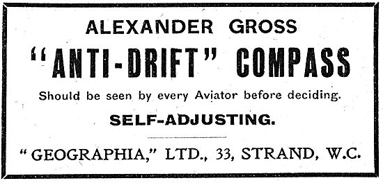 Alexander Gross Geographia Anti-Drift Aircraft Compasses