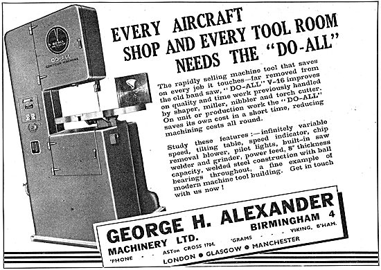 George Alexander Do-All Engineering Machinery
