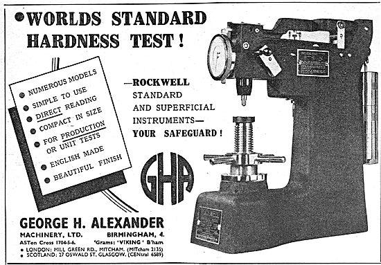 George Alexander - Rockwell HardnessTesting