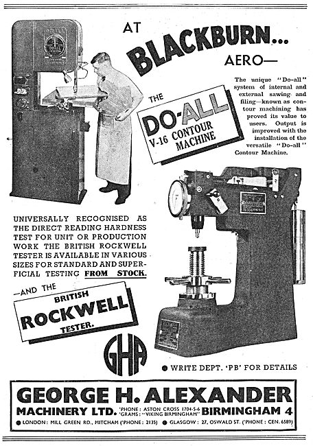 George Alexander V16 Contour Machine