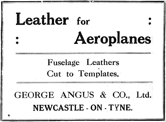 George Angus Leather Parts For Aircraft. 1919