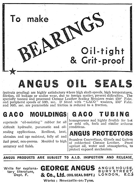 Angus Oil Seals For Aircraft & Engine Components