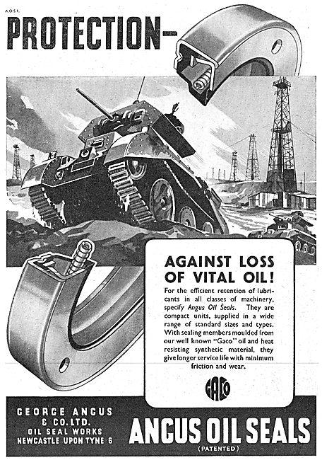 George Angus Oil Seals 1942 Advert