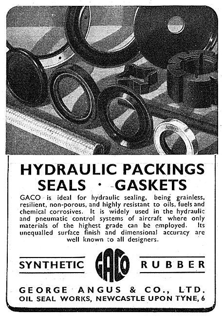 George Angus Oil Seals, Packings & Gaskets  1943 Advert