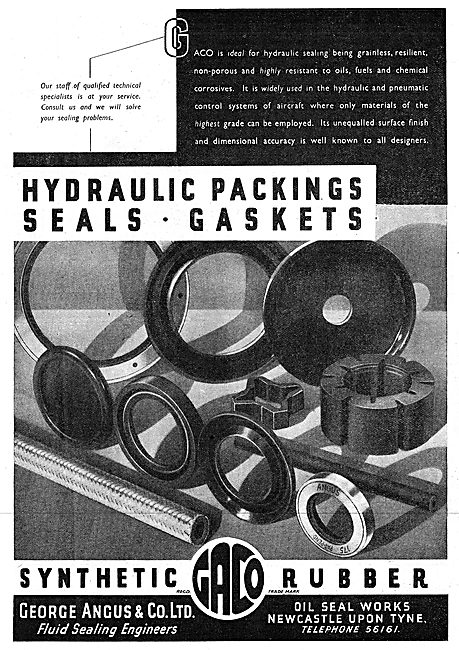 George Angus Synthetic Rubber Oil Seals, Packings & Gaskets