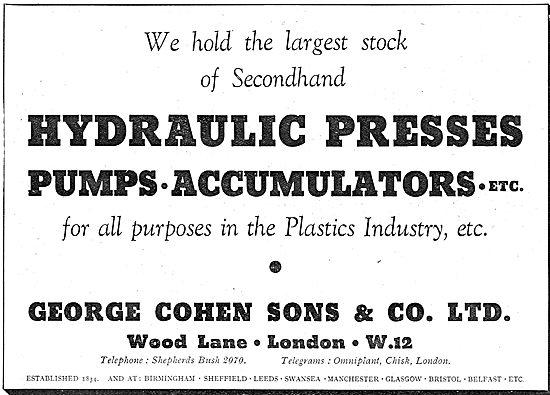 George Cohen - Hydraulic Presses, Pumps & Accumulators