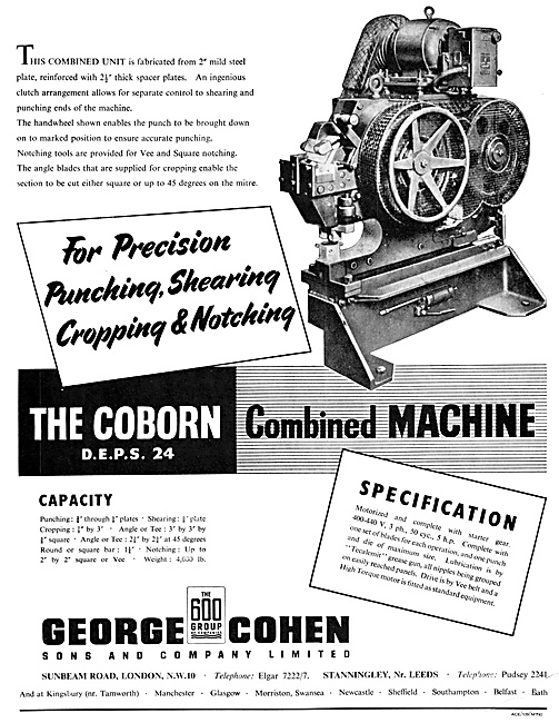 George Cohen Engineering Machinery - Coborn DEPS 24