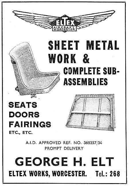 George H.Elt. Eltex Works, Worcester. Sheet Metal Assemblies