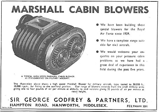 George Godfrey Marshall High Speed Aircraft Cabin Blowers
