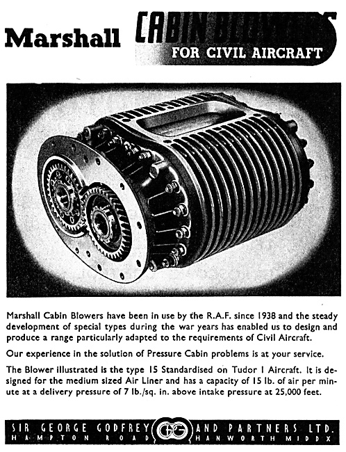 George Godfrey Marshall Cabin Blowers - Cabin Superchargers