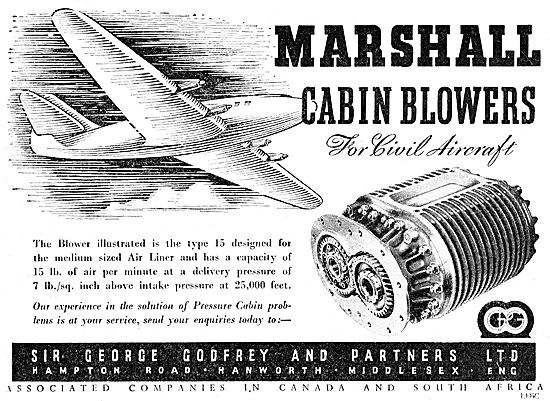 Godfrey Aircraft Pressurisation - Marshall Cabin Blowers