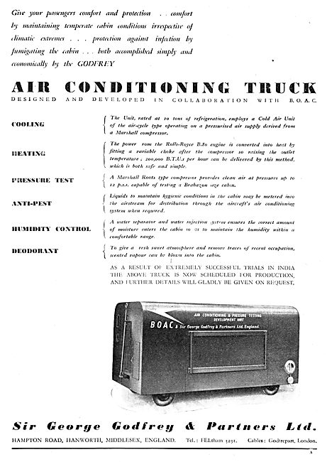 Godfrey Mobile Aircraft  Air Conditioning Trolley