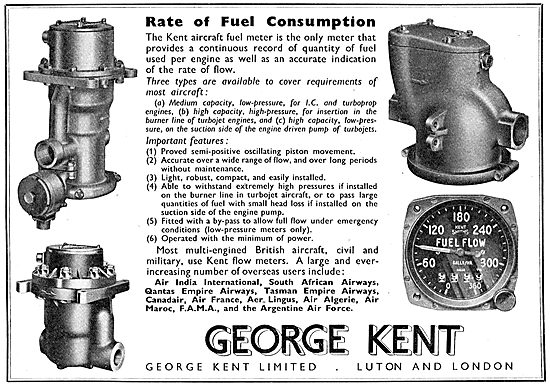 George Kent Aircraft Fuel Meters