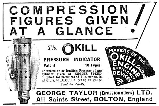 OKill Pressure Indicator For Engine Builders: George Taylor