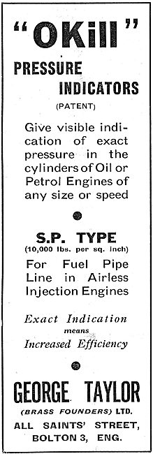 The Okill Pressure Indicator For Engine Builders 1939