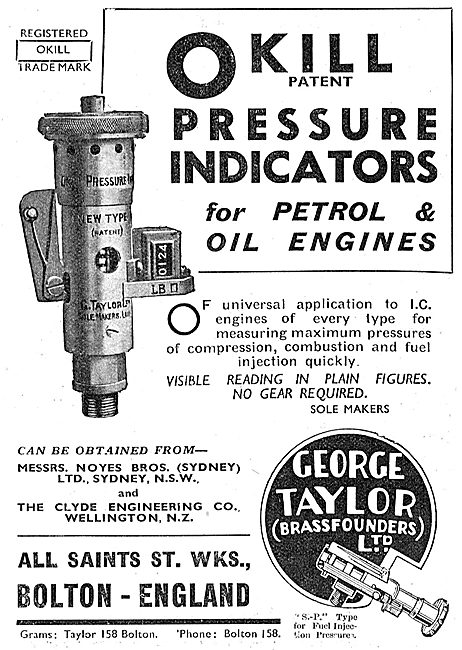 The Okill Pressure Indicator For Engine Builders: Geo Taylor