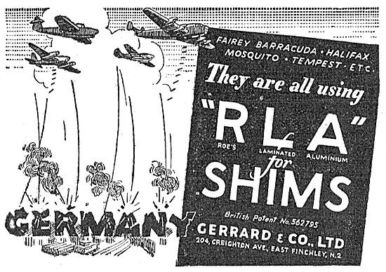 Gerrard & Co.  Roe's RLA Laminated Shims