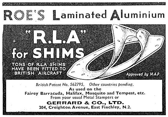 Gerrard  Roes RLA Laminated Aluminium Shims