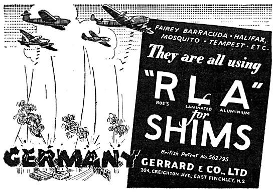 Gerrard . Roes RLA  Laminated Aluminium Shims