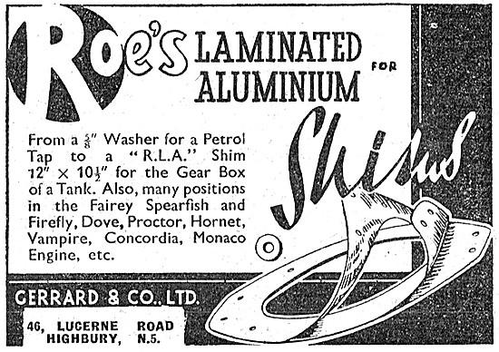 Gerrard Roes Laminated Aluminium Shims