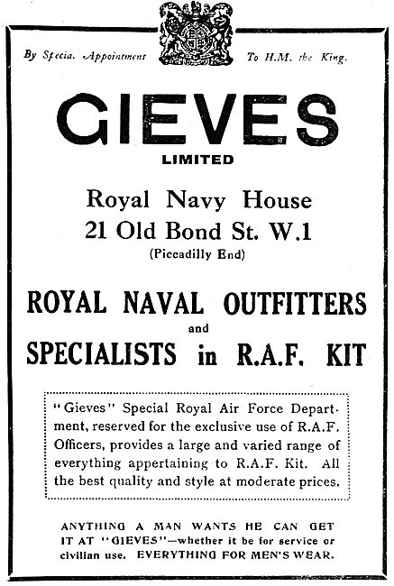 Gieves RAF & Naval Outfitters