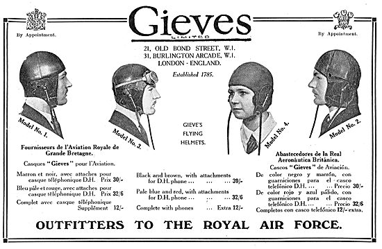 Gieves Flying Helmets