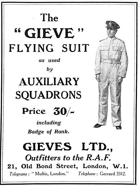 The Gieve Flying Suit For Auxiliary Squadrons