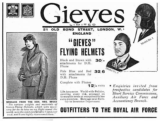 Gieves Flying Helmets - Models No1 & No 2