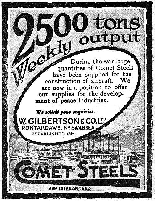 W.Gilbertson & Co. Comet Steels